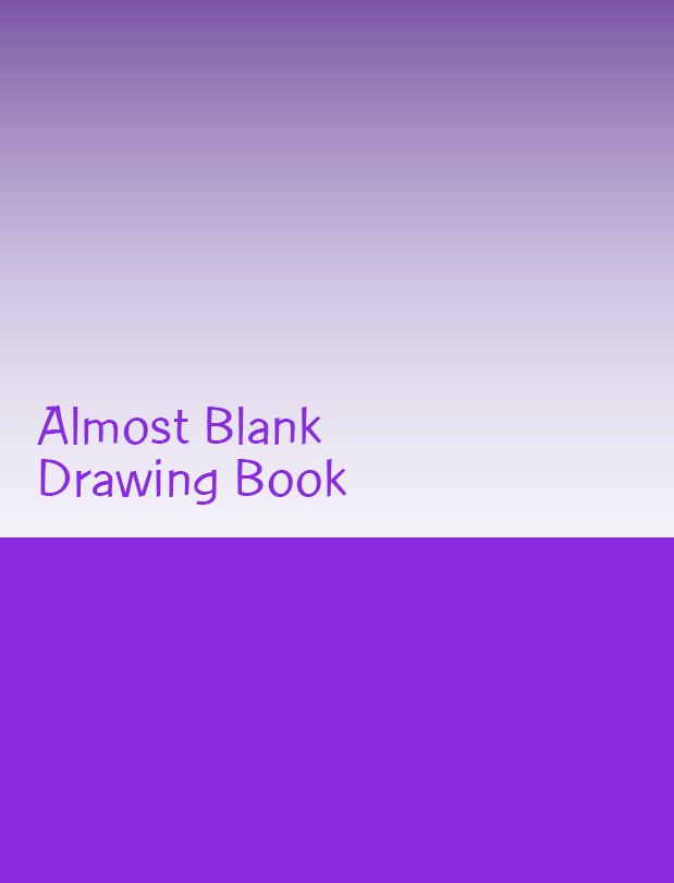 Almost Blank Drawing Book front cover