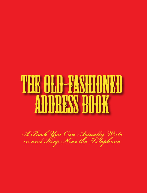 Old-fashioned address book front cover